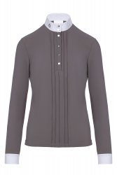 Tävlingsskjorta Pleated L/S Jersey Competition Polo Shirt Cavalleria Toscana