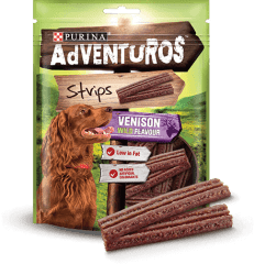 Hundgodis AdVENTuROS Strips Vension Purina