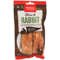 Hundgodis Slices of Rabbit 80 g Dogman