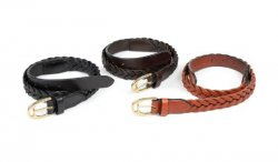 Läderbälte Plaited Leather Belt Aubrion Shires