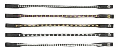Pannband Swarovski 1 row Straight Mountain Horse