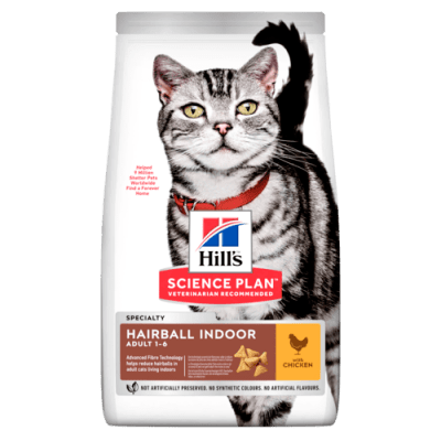 Kattfoder Adult Hairball Indoor Chicken Hill's