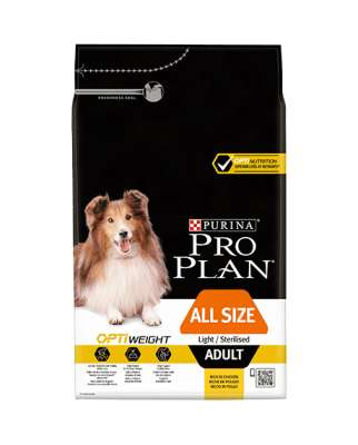 Hundfoder All Sizes Adult OPTIWEIGHT Pro Plan
