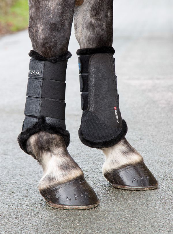 Fleece Lined Brushing Boots by Le Mieux | Boots, Horse boots
